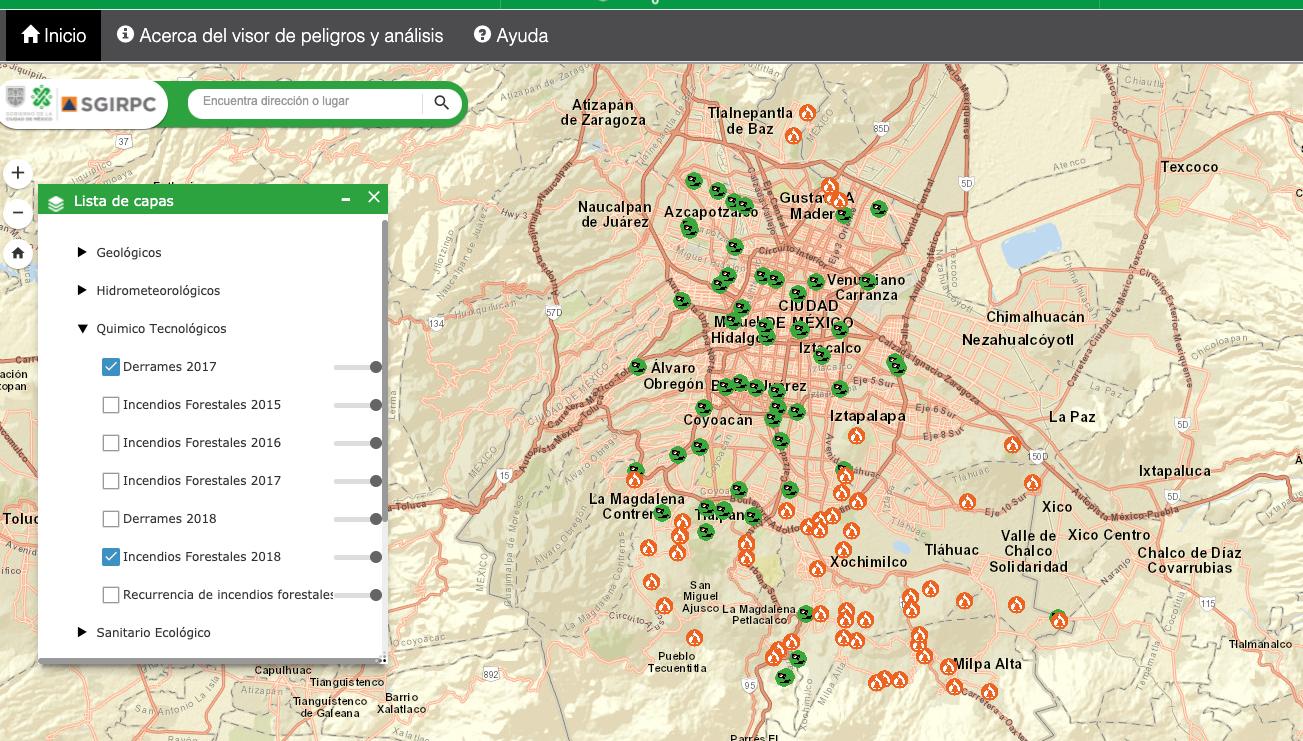 Atlas de riesgos de la Ciudad de México